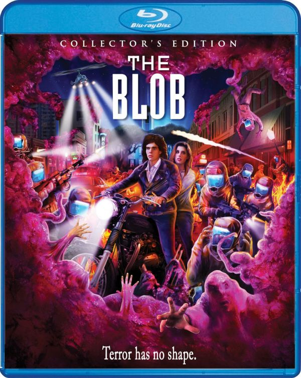 Scream Factory The Blob (1988) Collector's Edition blu-ray cover by Joel Robinson