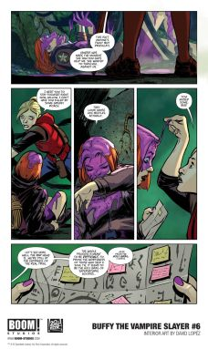 Boom! Studios Buffy the Vampire Slayer issue #6 preview page 2.