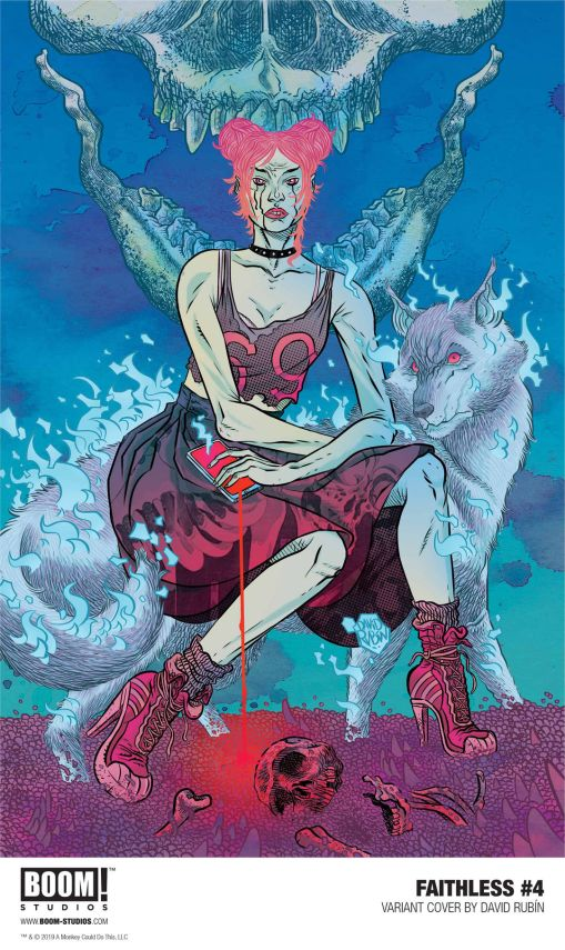 Boom! Studios Faithless issue #4 variant cover by David Rubin.