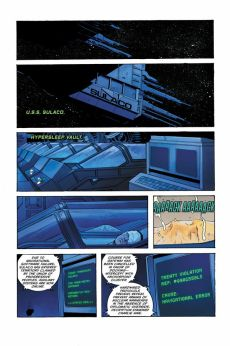 Dark Horse Comics' William Gibson's Alien 3 hardcover page 1.
