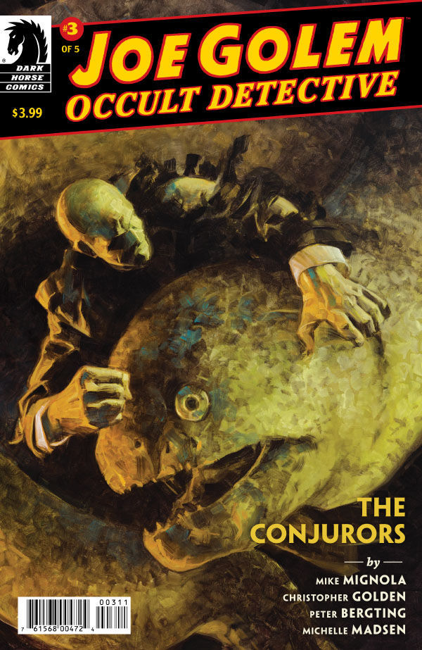Dark Horse Comics' Joe Golem: Occult Detective - The Conjurors issue #15 cover by David Palumbo.