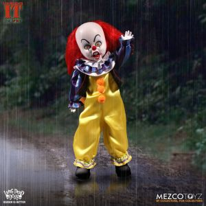 Mezco Toyz Living Dead Dolls Presents IT 1990 Pennywise front face and left arm.