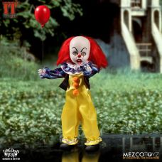 Mezco Toyz Living Dead Dolls Presents IT 1990 Pennywise front with red balloon.