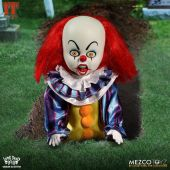 Mezco Toyz Living Dead Dolls Presents IT 1990 Pennywise front in grave.