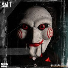Mezco Toyz MDS Mega Scale Saw Talking Billy doll front face.
