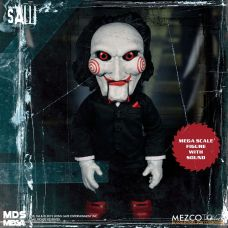 Mezco Toyz MDS Mega Scale Saw Talking Billy doll front.