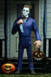 NECA Toys' Toony Terrors series 2 action figure Michael Myers (front) with cutout backdrop.