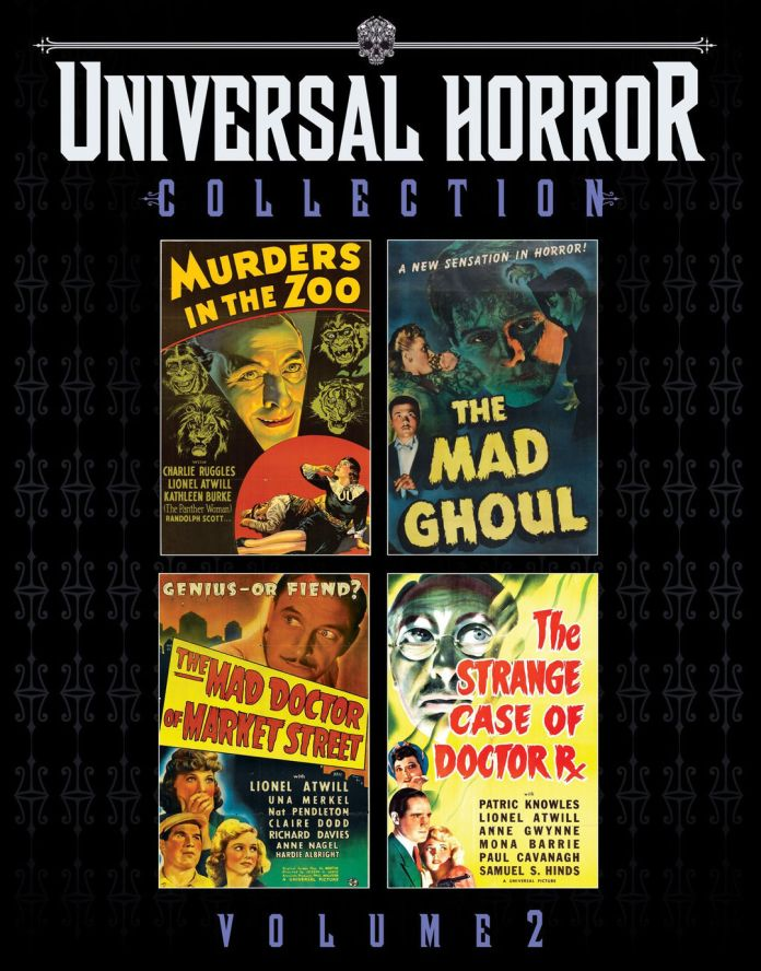 Scream Factory's Universal Horror Collection Vol. 2 blu-ray cover.