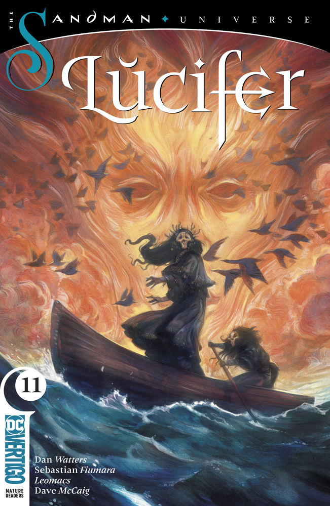 DC Vertigo's Lucifer Issue #11 Cover by Leomacs and Max & Sebastian Fiumara