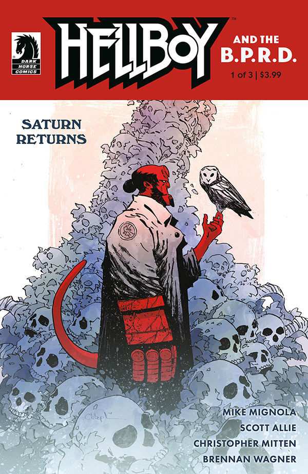 Dark Horse Comics' Hellboy and the B.P.R.D.:Saturn Returns Issue #1 Cover by Christopher Mitten