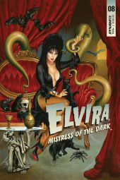 Dynamite Entertainment's Elvira: Mistress of the Dark Issue #8 Cover A by Joe Jusko