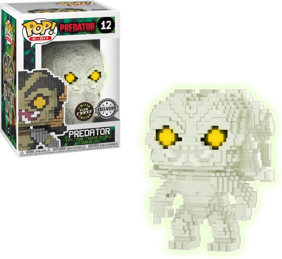 Funko Pop! 8-Bit #12 Predator Predator [Clear, Glow-in-the-Dark]