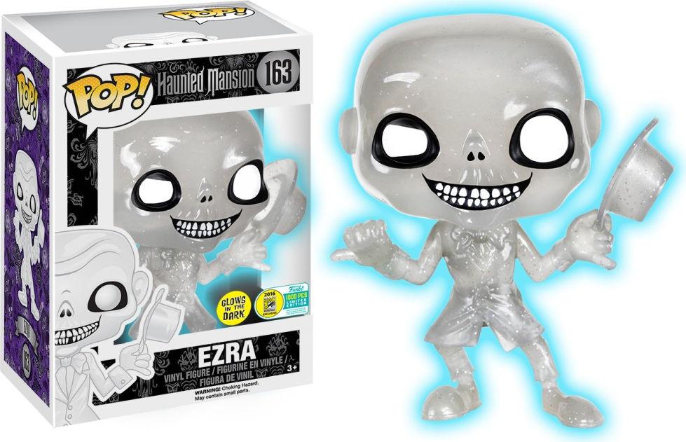 Funko Pop! Disney #163 Haunted Mansion Ezra [Glitter, Glow-in-the-Dark, White]