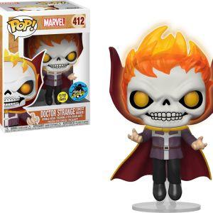 Funko Pop! Marvel #412 Marvel Doctor Strange (Ghost Rider) [Glow-in-the-Dark]