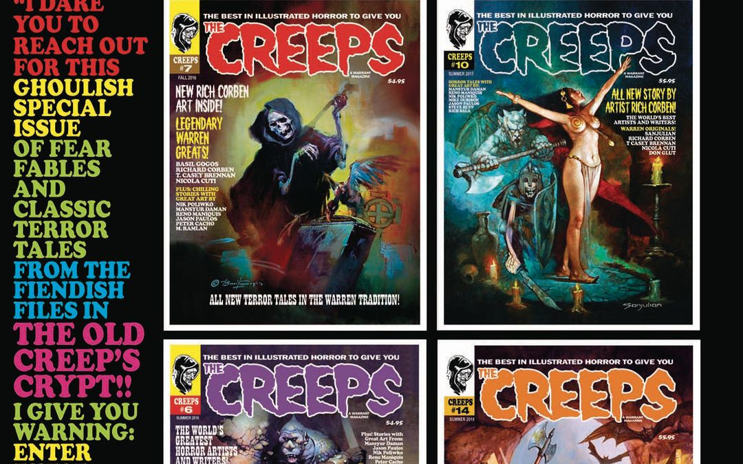 Warrant Publishing Company Creeps Annual #2 2020 Spooktacular Cover by Frank Frazetta