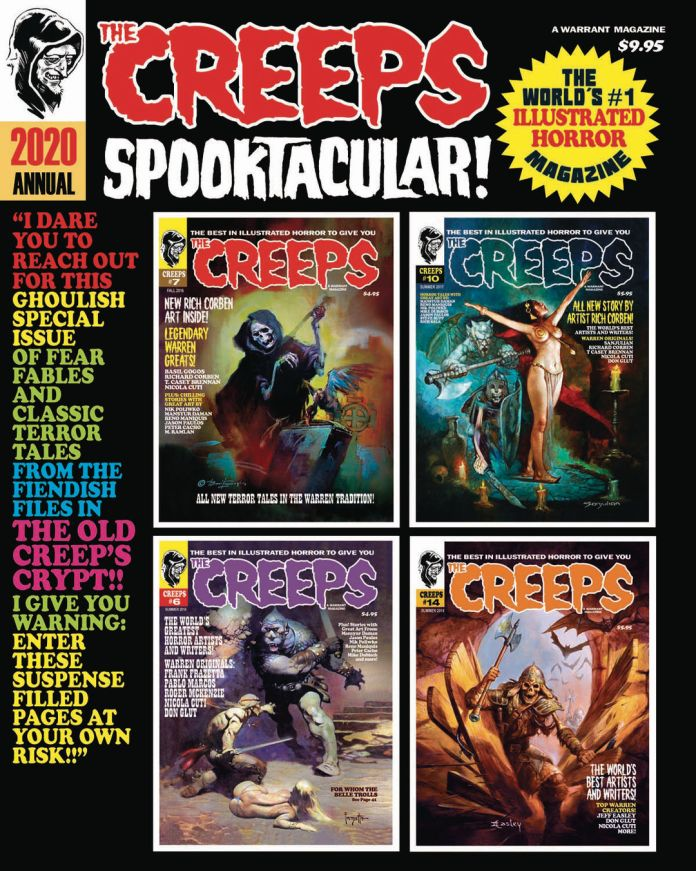 Warrant Publishing Company Creeps Annual #2 2020 Spooktacular Cover by Frank Frazetta