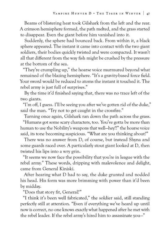 Dark Horse Comics Vampire Hunter D Volume 28 The Tiger in Winter Page 5