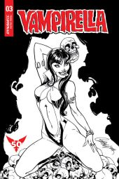 Dynamite Entertainment Vampirella Vol. 5 Issue #3 Cover A (Black & White) by J. Scott Campbell