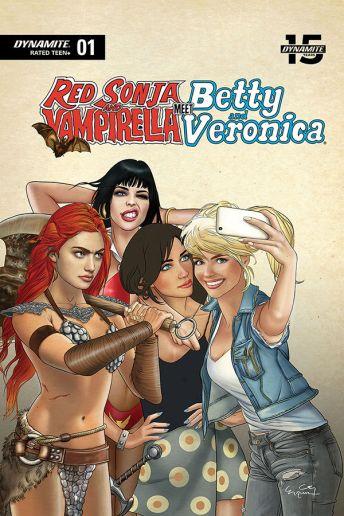 Dynamite Entertainment Red Sonja & Vampirella Meet Betty & Veronica #5 Cover F by Ergun Gunduz