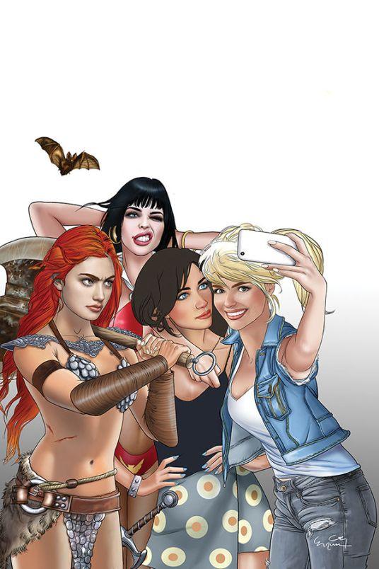 Dynamite Entertainment Red Sonja & Vampirella Meet Betty & Veronica #5 Cover F (Virgin) by Ergun Gunduz