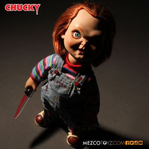 Mezco Toyz Child's Play Sneering Chucky 15-inch Talking Doll