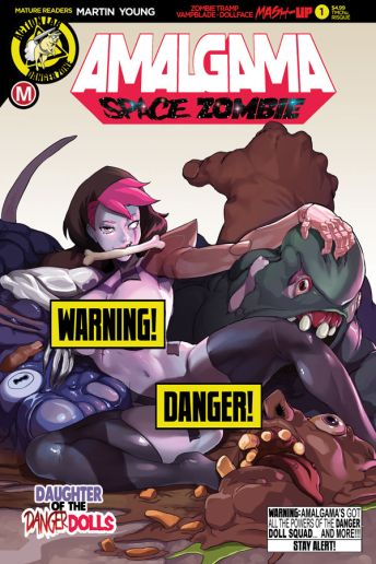 Action Lab Danger Zone Amalgama #1 Cover F (Risque) by TMChu