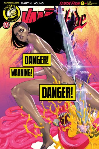 Action Lab - Danger Zone Vampblade Season 4 #6 Cover D (Risque) by Mastajwood