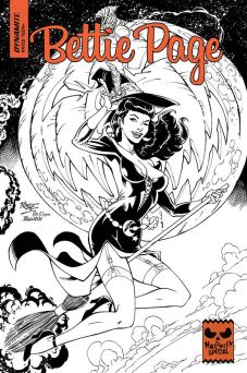 Dynamite Entertainment 2019 Bettie Page Halloween Special one-shot Cover A (Black & White) by John Royle