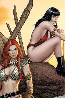 Dynamite Entertainment Vampirella/Red Sonja #2 Cover G (Virgin) by Frank Cho