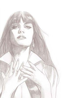 Dynamite Entertainment Vengeance of Vampirella Cover C (Black & White, Virgin) by Ben Oliver