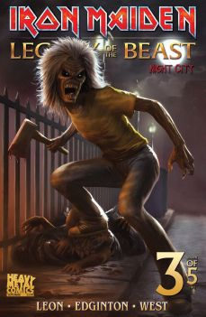 Heavy Metal Magazine Iron Maiden: Legacy of the Beast Vol. 2 - Night City #3 Cover C by Carlos Dattoli