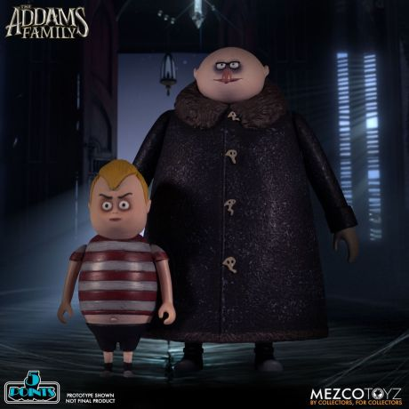 Mezco Toyz 5 Points The Addams Family (2019) Pugsley & Fester Action Figures