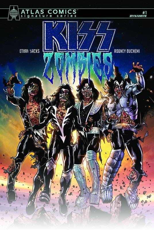 Dynamite Entertainment KISS Zombies Cover C (Atlas Comics) by Rodney Buchemi