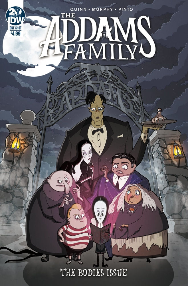 IDW Publishing The Addams Family: The Bodies Cover by Philip Murphy