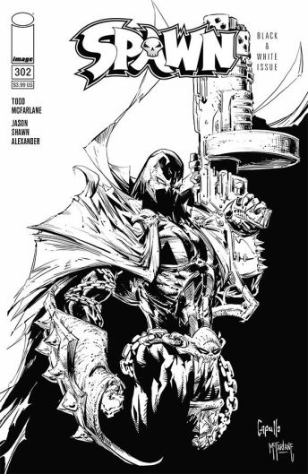 Image Comics Spawn #302 Cover (Black & White) by Todd McFarlane & Greg Capullo