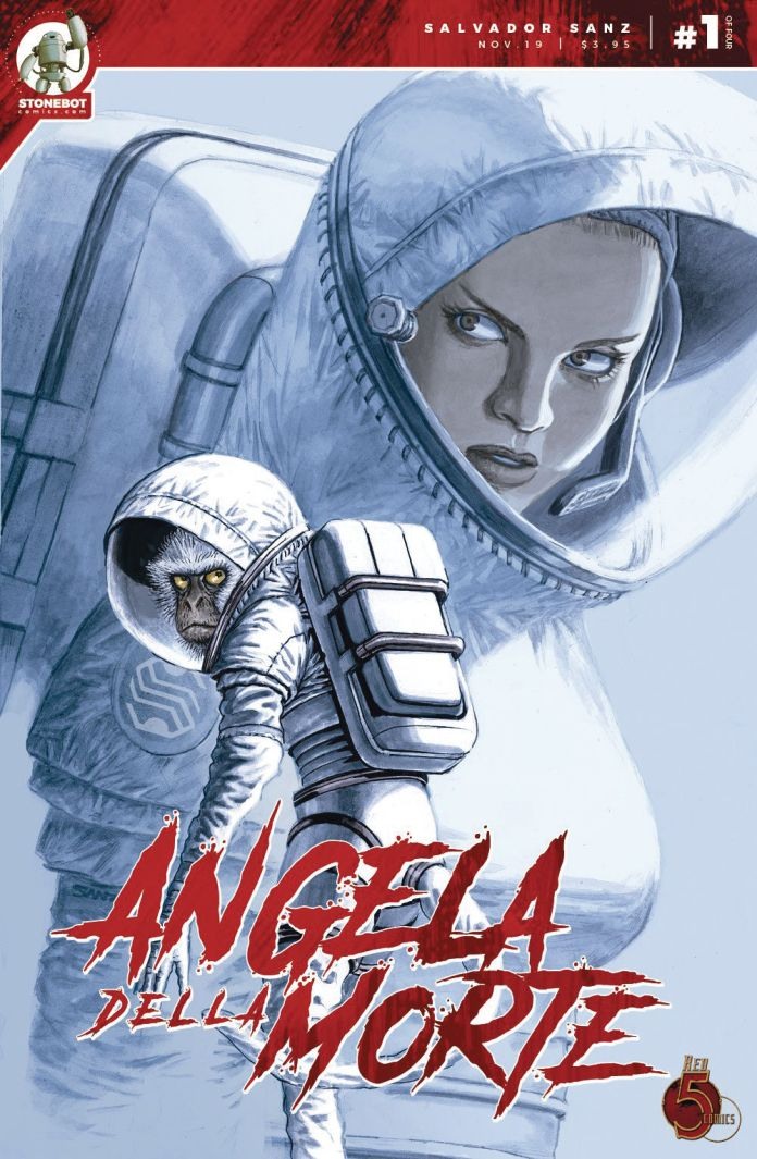 Stonebot Comics Angela Della Morte #1 Cover A by Salvador Sanz