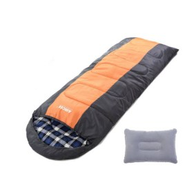 Aircee Camping Hooded Sleeping Bag With Pillow