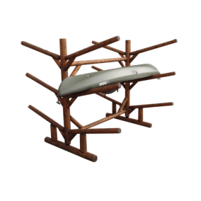 log kayak rack