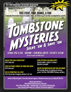 Tombstone Mysteries Flier 2016