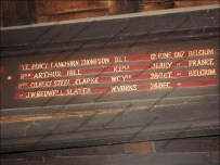 Names, dates and regiments are all recorded