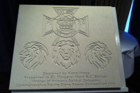 WWI Victoria Cross Commemorative stone competition primary school winner