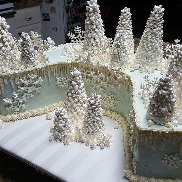 Christmas Decorating Ideas Buttercream Cake