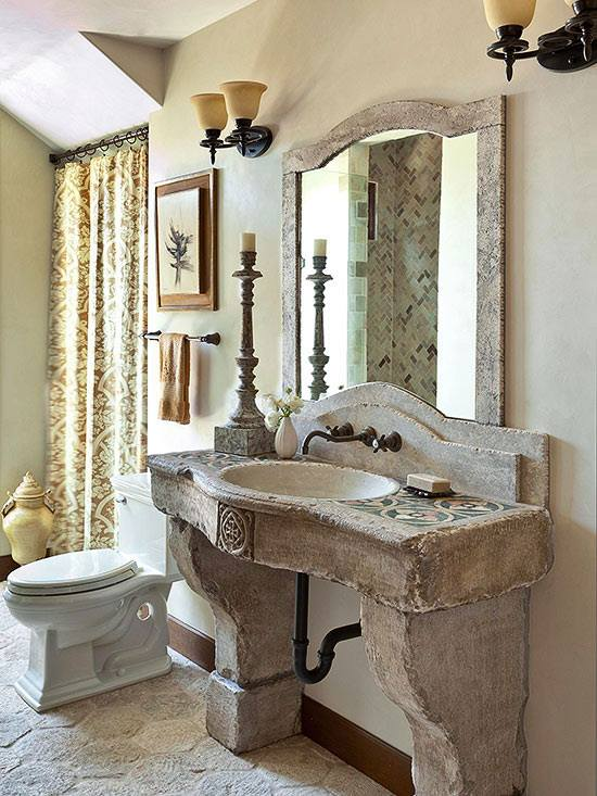 40 Warm Stone Bathroom Design Ideas That You Will