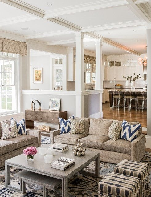 An open concept floor plan typically turns the main floor living area into one unified space. 40 Elegant Beige Living Room Ideas That Are Very Catchy To the Eye