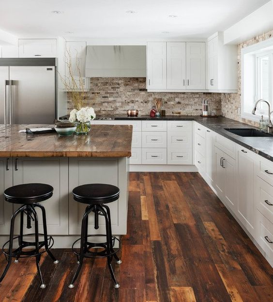 55 Stunning Woodland Inspired Kitchen Themes to Give Your ... on Rustic:1Gdhjdx6F3G= Farmhouse Kitchen  id=96485