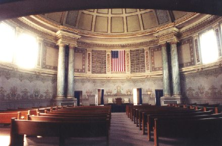 Bohemian National Cemetery Chapel Interior