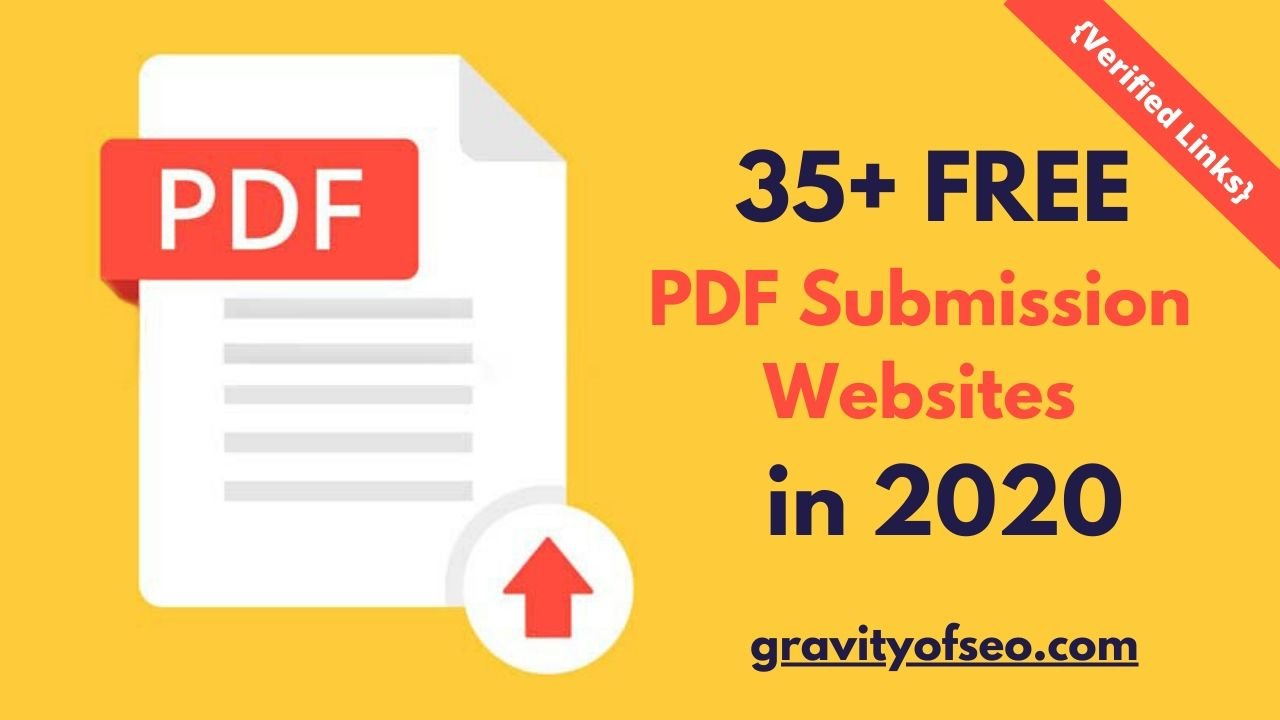 35+ Free PDF Submission Sites List in 2020