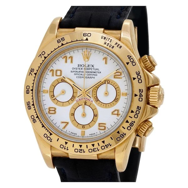Yellow Gold Daytona ref. 16518 with a Leather Strap