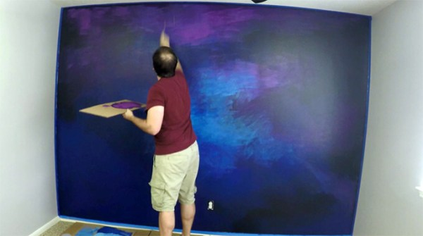 paint: Wall Art Galaxy Wall Paint