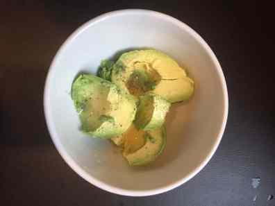 avocado, lime, salt, and pepper